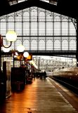 train  in paris, rail station
