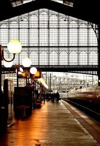 train  in paris, rail station